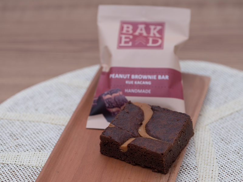 Peanut butter brownie bar Baked ID (Isi 4 Pouch)