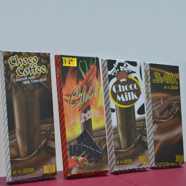 Chocolate Tugu paket 60gr  (Isi 4 pcs : Bar Dark,Chilli,Coffee,Milk)