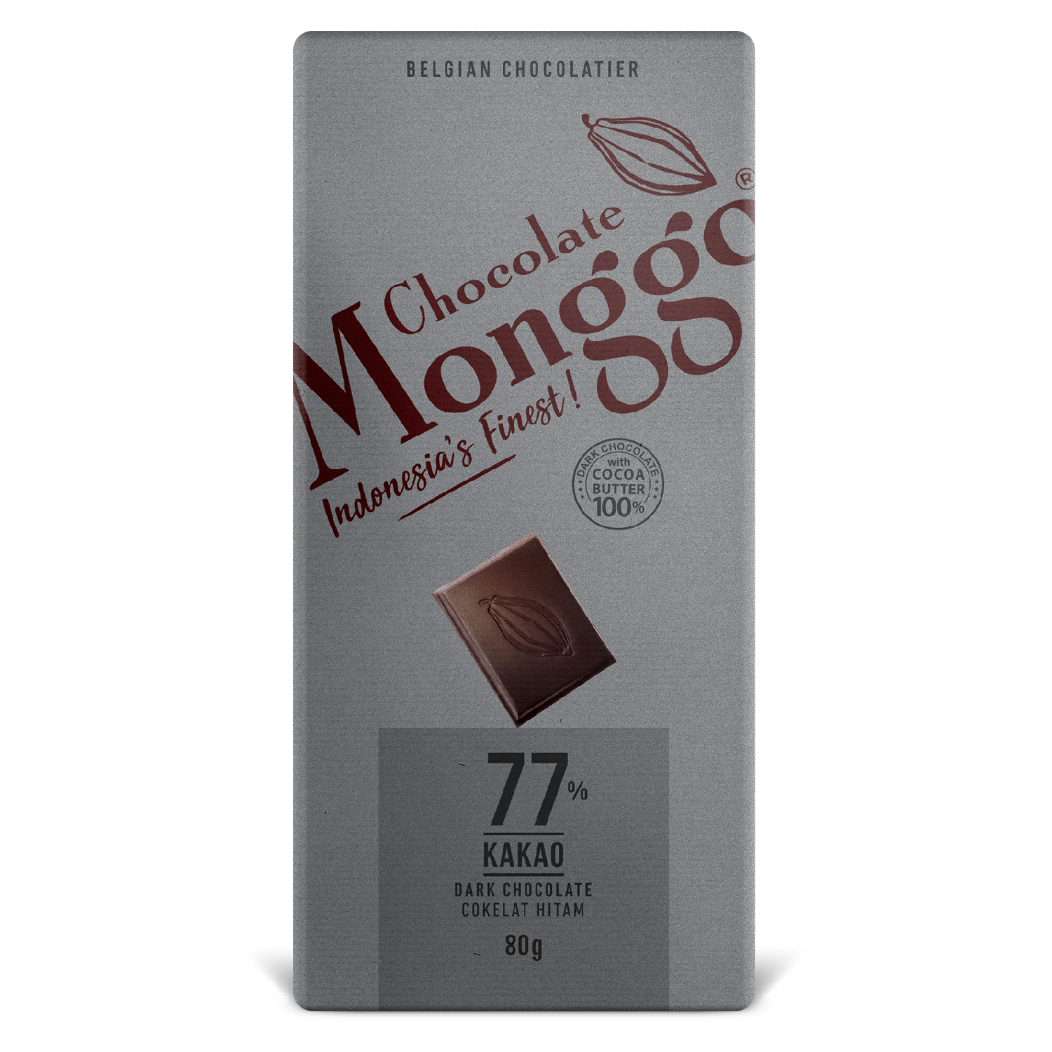 CHOCOLATE TABLET DARK 77% OF COCOA