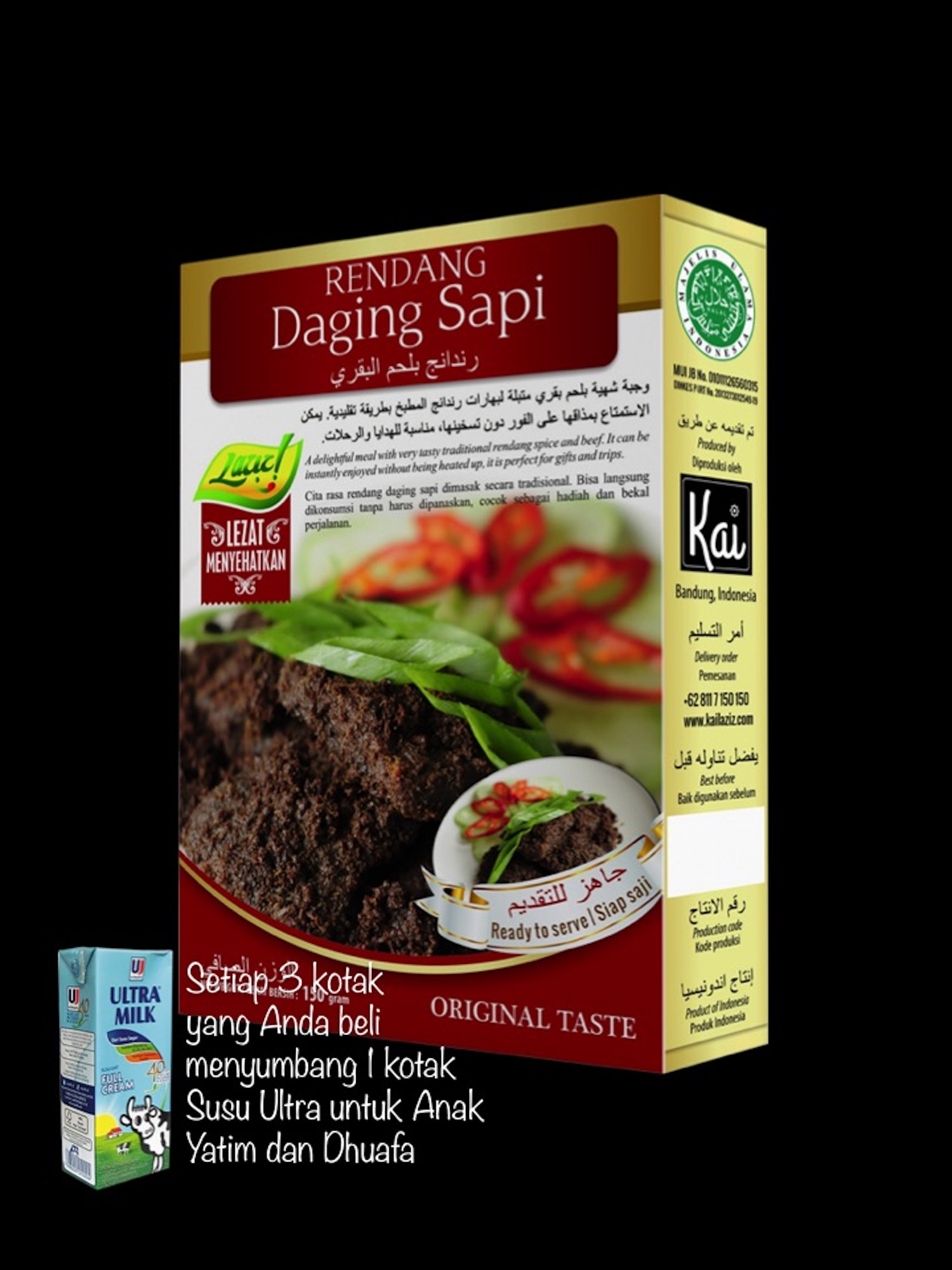 RENDANG DAGING SAPI KAI FOOD 150GR