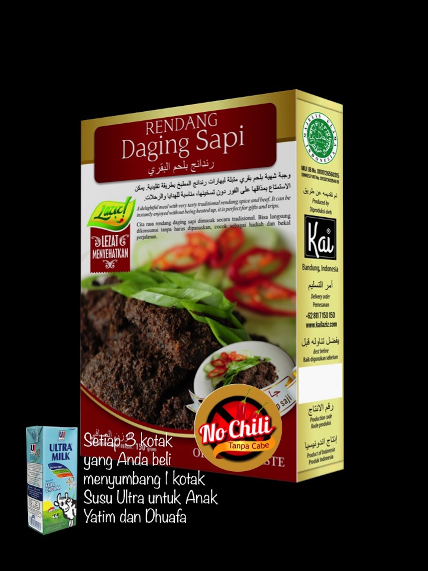 RENDANG DAGING SAPI NO CHILI KAI FOOD 150GR