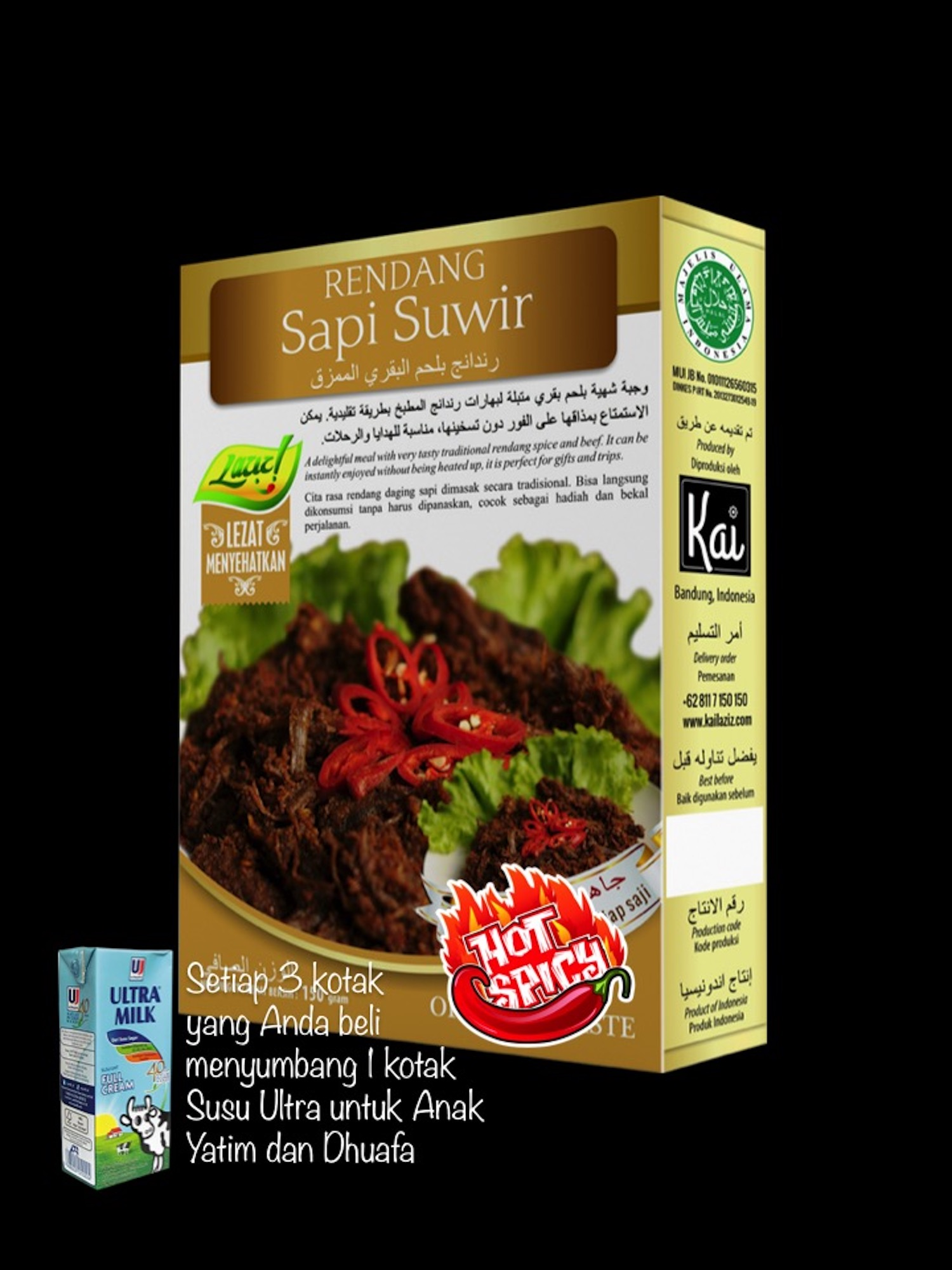 RENDANG SAPI SUWIR HOT SPICY KAI FOOD 150GR