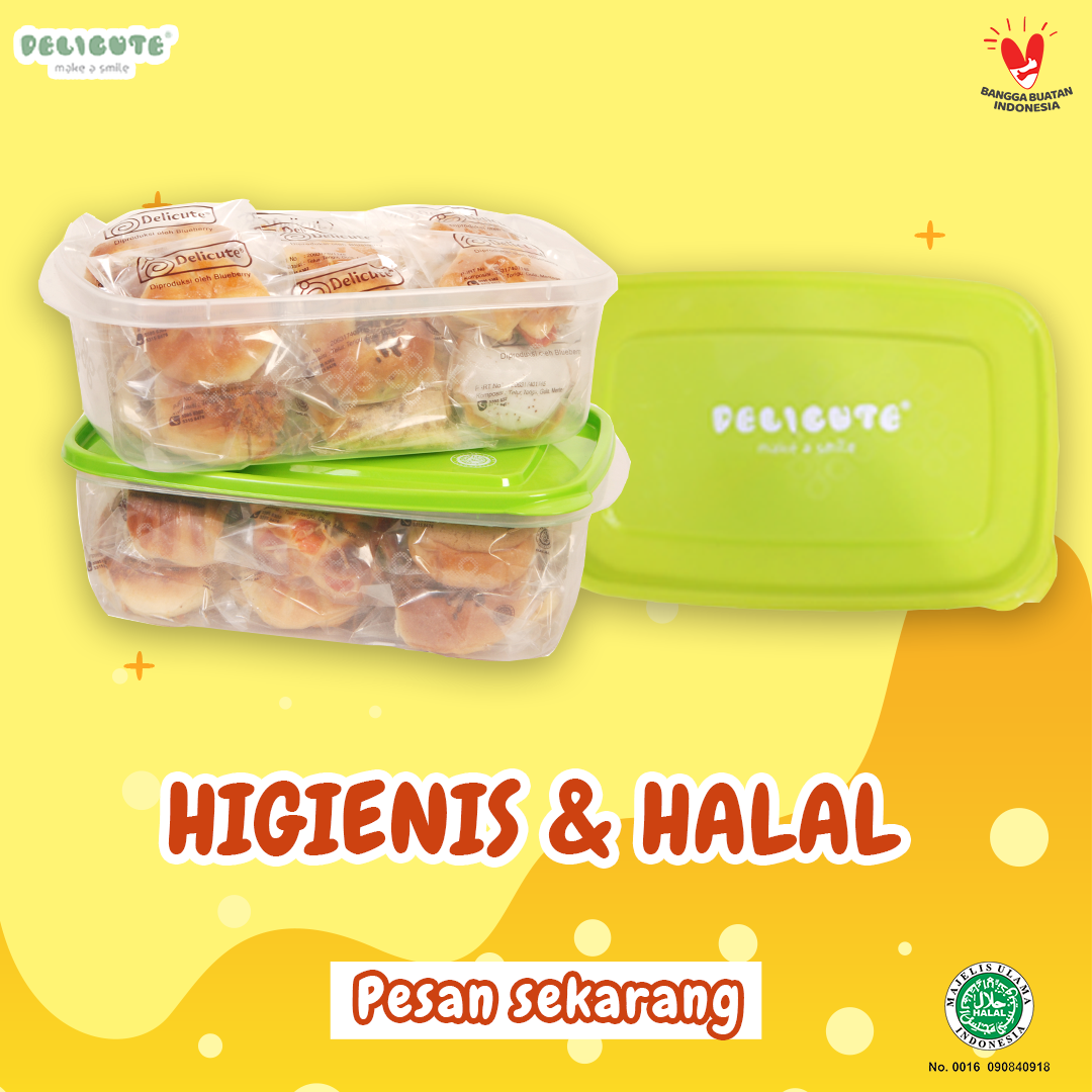 ROTI BUN DELICUTE 17 PCS (KEMASAN LUNCH BOX)