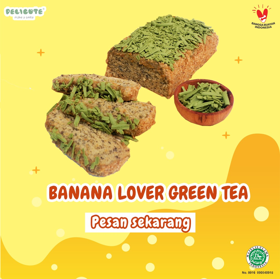 BANANA LOVER GREEN TEA DELICUTE